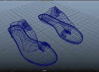 3d leather sandal
