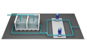 booster pump 3D model