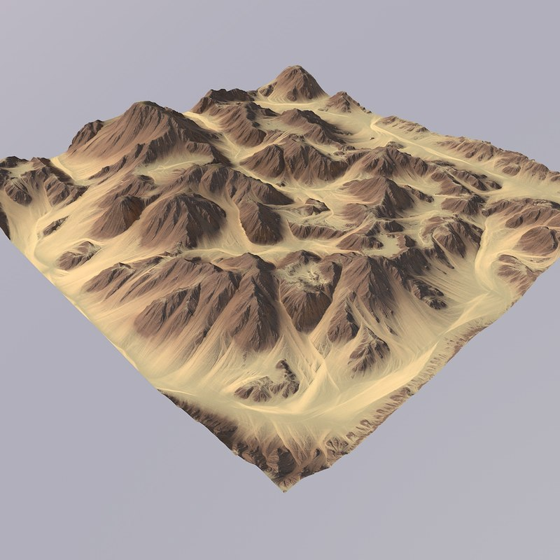 terrain games maps 3D model