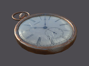 old clock 3d obj