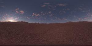 Early Morning Desert HDRI Sky