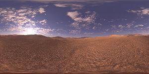 Morning Desert HDRI Sky