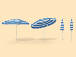 parasol umbrella beach obj