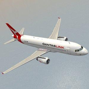 airbus qantaslink airplanes planes 3D