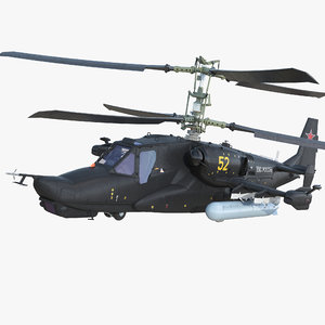 kamov ka-52 alligator russian 3D model