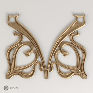 3d model carved scroll cnc