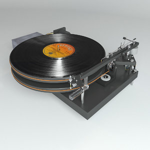 3D vinyl player 4724 koma
