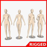 3D mannequin female blender