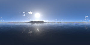 Early Midday Lake HDRI Sky