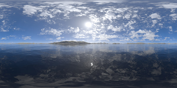 Midday Lake HDRI Sky