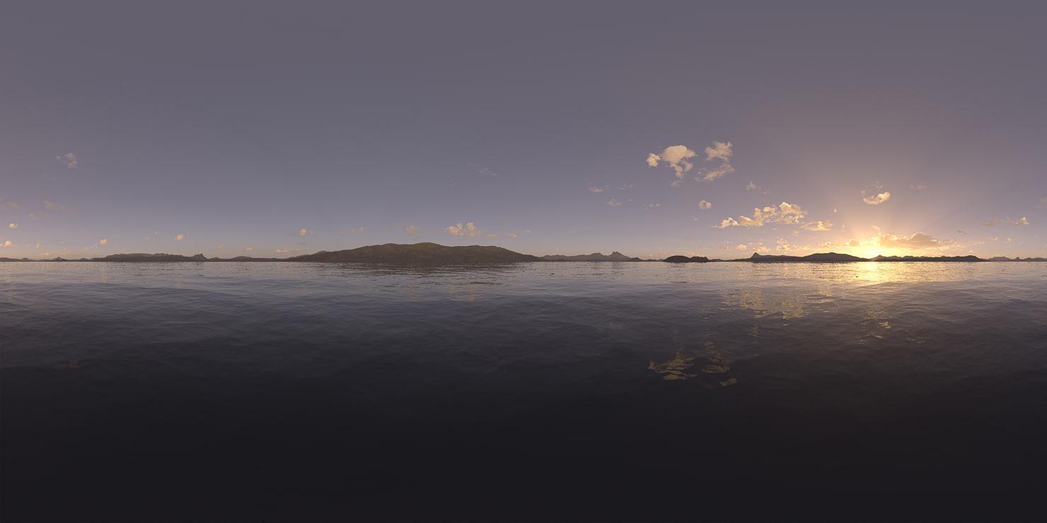 Evening Lake HDRI Sky