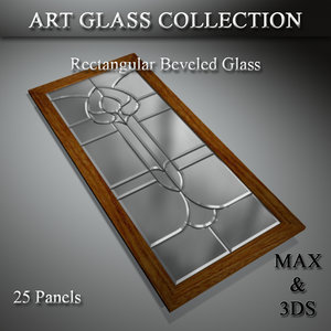 art glass set 12 3D