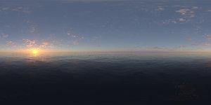 Morning Ocean HDRI Sky