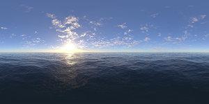 Late Morning Ocean HDRI Sky