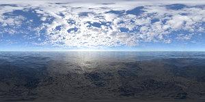 Early Midday Ocean HDRI Sky