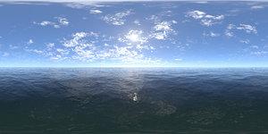 Midday Ocean HDRI Sky