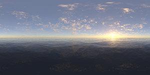 Late Afternoon Ocean HDRI Sky