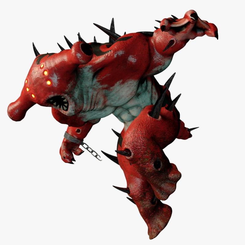 3D model spiky creature