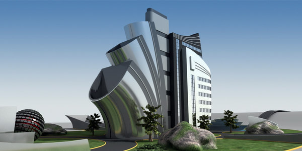 originally modern building 3D model