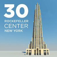 new york 30 rockefeller 3d obj