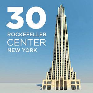 new york 30 rockefeller 3d obj