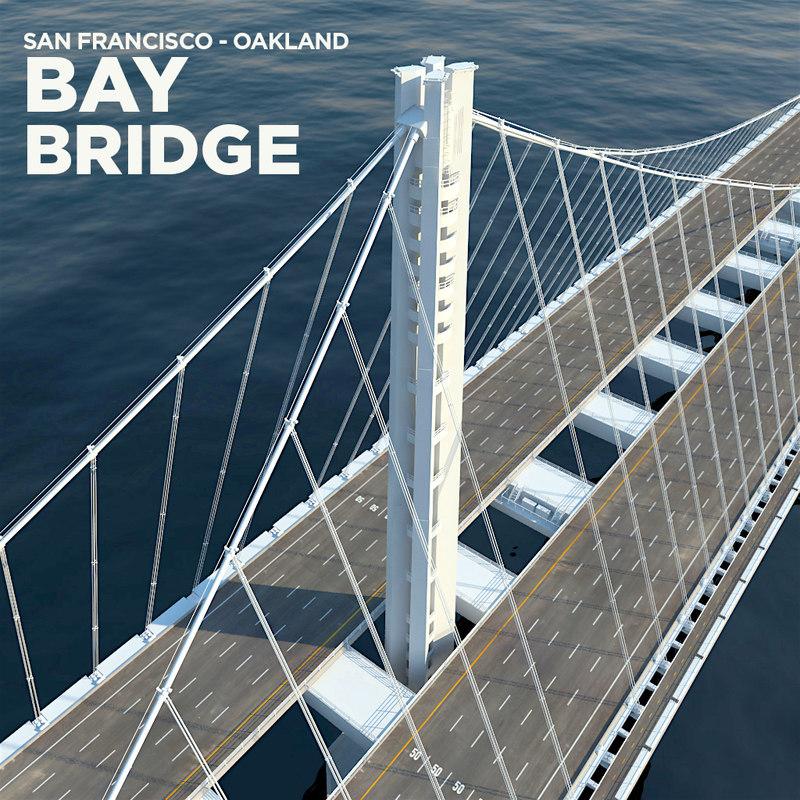 3d model of san francisco oakland bay bridge