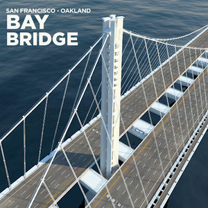3d model of san francisco oakland bay bridge