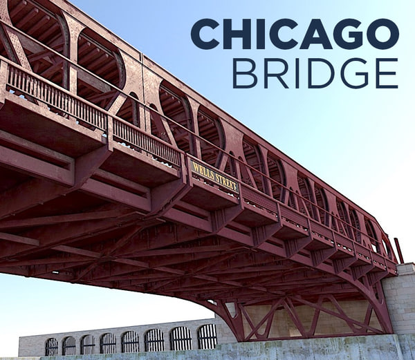 wells bridge chicago 3D