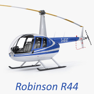 3d helicopter robinson r44 raven