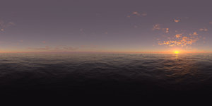 Evening Ocean HDRI Sky