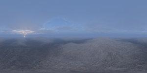 Early Morning Snow Hills HDRI Sky