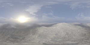 Morning Snow Hills HDRI Sky