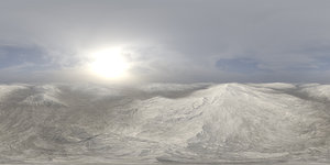 Late Morning Snow Hills HDRI Sky