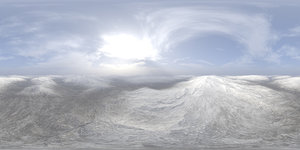 Early Midday Snow Hills HDRI Sky
