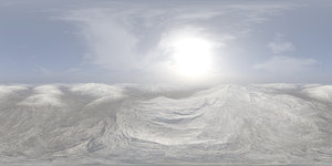 Early Afternoon Snow Hills HDRI Sky