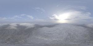 Afternoon Snow Hills HDRI Sky