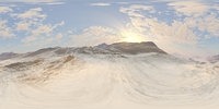 Late Morning Snow Mountains HDRI Sky