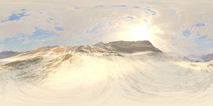 Early Midday Snow Mountains HDRI Sky