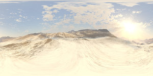 Early Afternoon Snow Mountains HDRI Sky