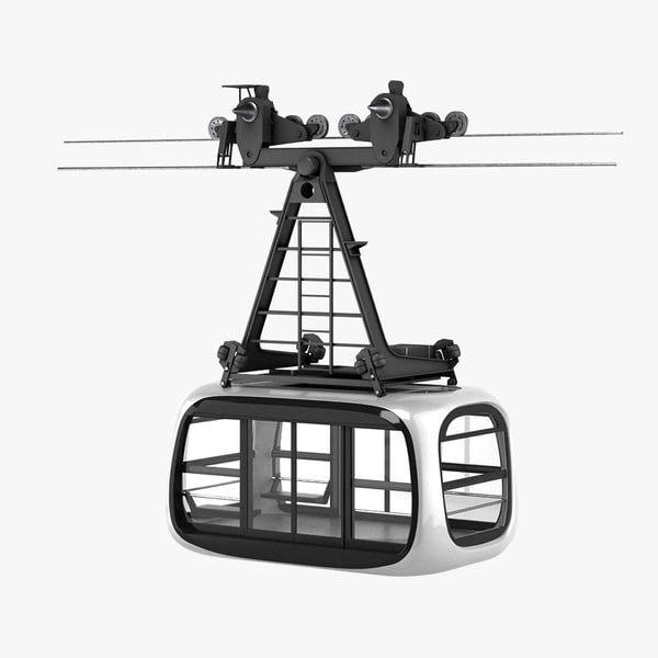 3D porsche design cableway model