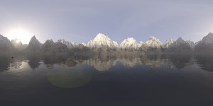 Afternoon Lake and Mountains HDRI Sky