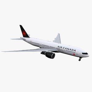 777-200 air canada 3D model