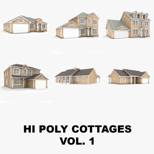hi-poly cottages vol 1 max