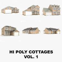 Hi-poly cottages collection vol.1