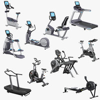 3D exercise equipment set precor model