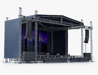 3d model concert scene v2