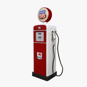 3d model old fuel pump