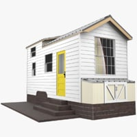 3D architectural tiny house model