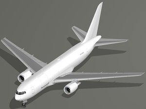 freighter aircraft boeing 767-200f 3D model