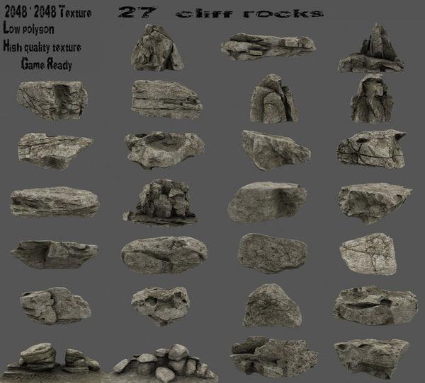 rock cliff 3D model